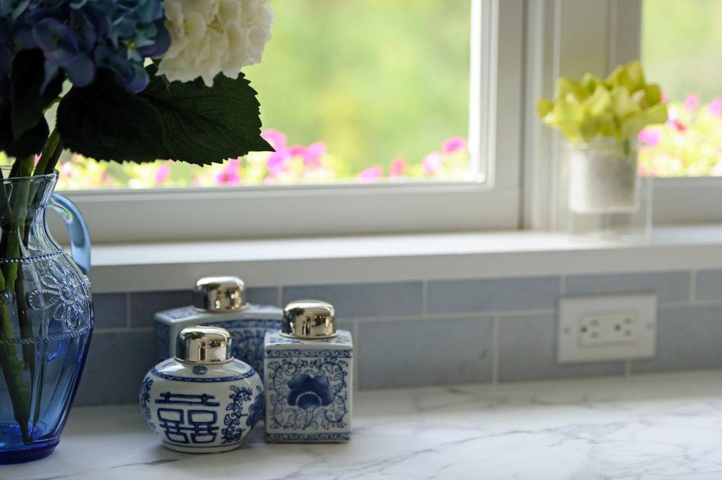 detail of kitchen accessories interior design