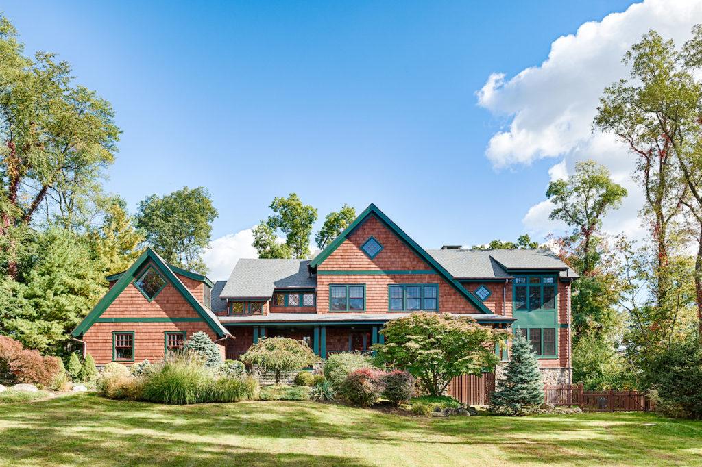 elevation of Adirondack Inspired home