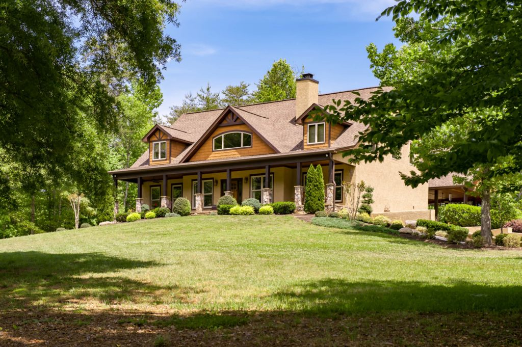 Custom Country home with large porch