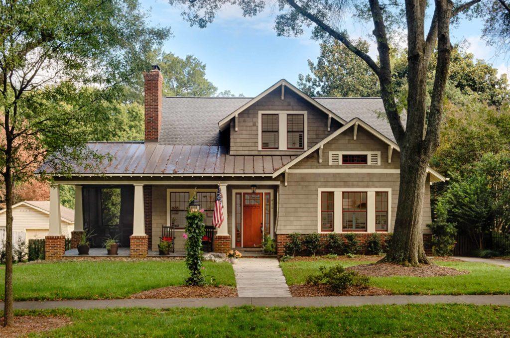 elevation image of craftsman home