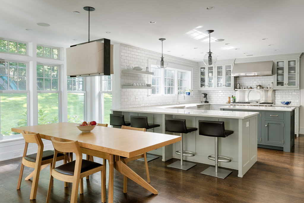 Custom kitchen with subway tile