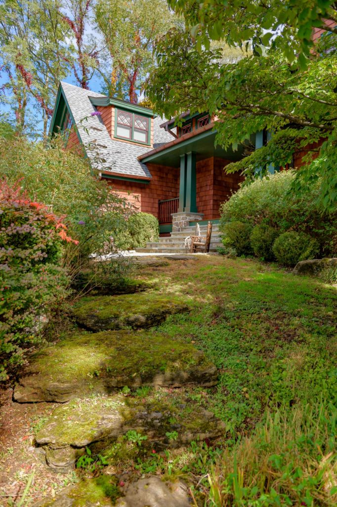 Adirondack inspired home entry