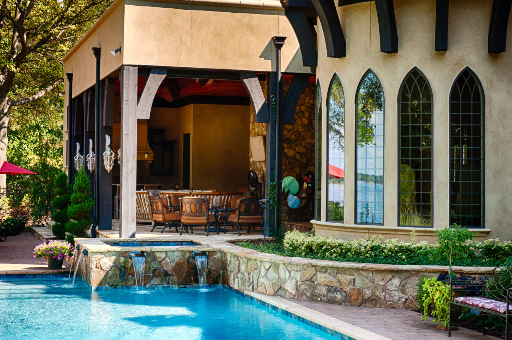 High end outdoor living and pool